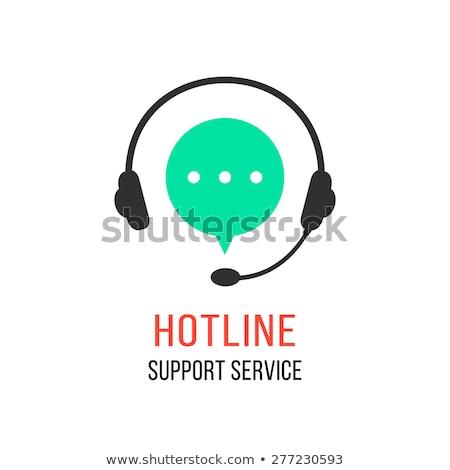 suporte · técnico · operador · sessão · secretária · vetor · linha - foto stock © makyzz
