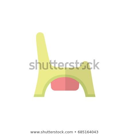 vector · icono · WC · gris · pan · amarillo - foto stock © smoki