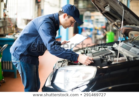 Monteur werken workshop business auto man Stockfoto © Minervastock