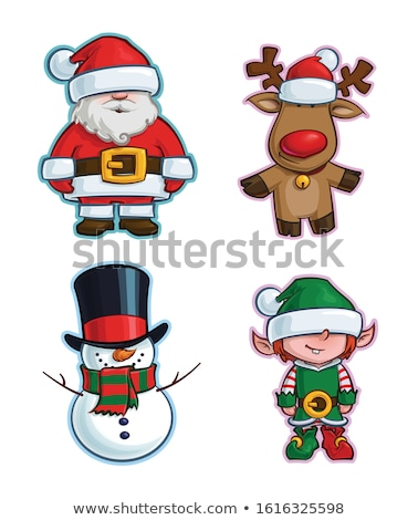 Christmas Cartoon Icon - Santa Elf Minion Helper Stock photo © nazlisart