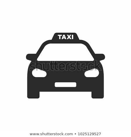 Ikon taksi vektör uzun gölge web Stok fotoğraf © smoki