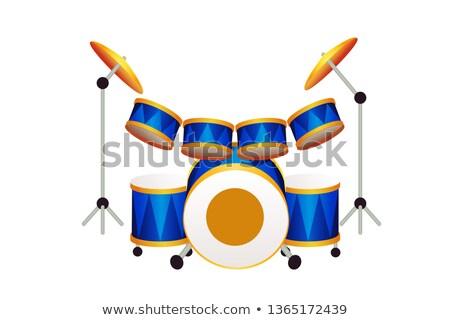 Cartoon tambor idea ilustración sonriendo Foto stock © cthoman
