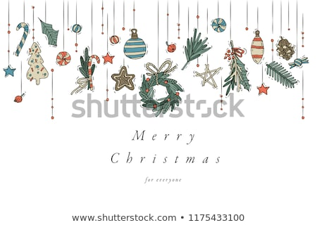christmas card collection with gingerbread stock photo © balasoiu