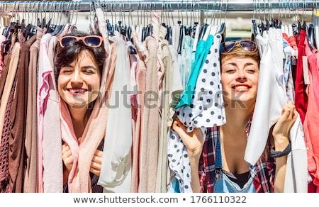 estilo · retro · vestuário · retrato · retro · posando - foto stock © dolgachov