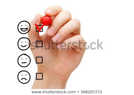 blank customer service survey checklist concept stock photo © ivelin