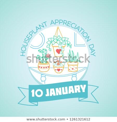 10 january  Houseplant Appreciation Day Stock photo © Olena
