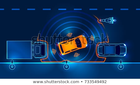 Autó parkolóhely jármű okos parkolás technológia Stock fotó © RAStudio