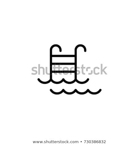 Бассейн деятельность набор вектора мужчины спасательный трос Сток-фото © robuart