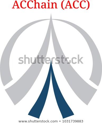 ACC - Acchain. The Crypto Coins or Cryptocurrency Logo. Stock photo © tashatuvango