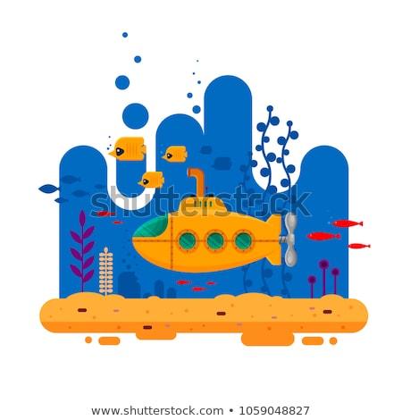 Citromsárga tengeralattjáró halfajok terv vektor rajz Stock fotó © Andrei_