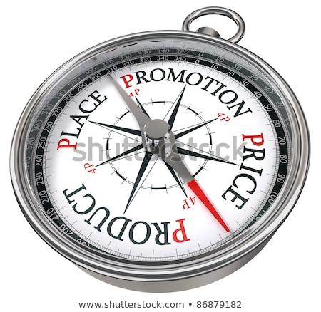 compass on white background principles concept stock photo © make