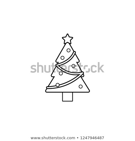 Decorated Christmas Tree, Winter Plant Icon, House Stock photo © robuart