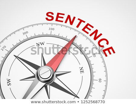 Compass on White Background, Sentence Concept Stock photo © make