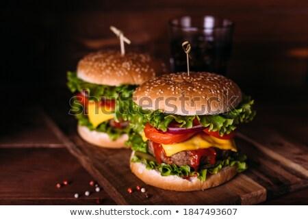 Kettő ízletes grillezett házi marhahús paradicsom Stock fotó © dash