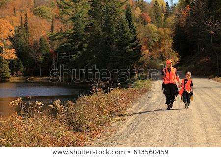 осень охота сезон Открытый спортивных женщину Сток-фото © lightpoet