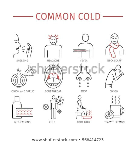 Winter Flu Character Sign Stock photo © Lightsource