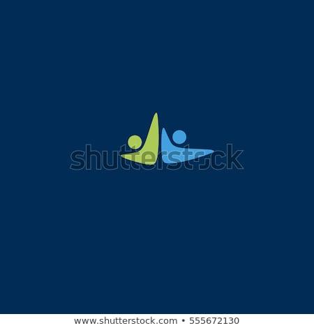 vector · empresarial · éxito · logo · resumen · humanos - foto stock © gothappy