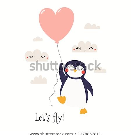 kicsi · léggömbök · kettő · szív · alakú · szeretet - stock fotó © liolle