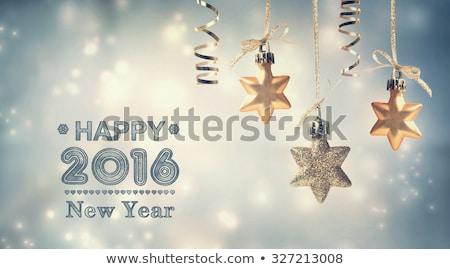 Neşeli Noel happy new year 2016 tebrik top Stok fotoğraf © hittoon