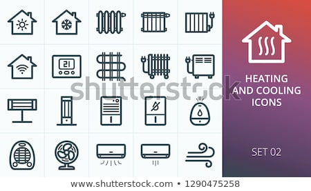 Electrical heater icon Stock photo © angelp