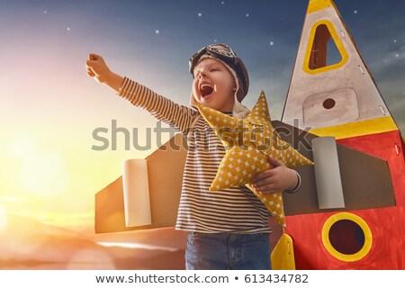 Extremely happy boy Stock photo © ilona75
