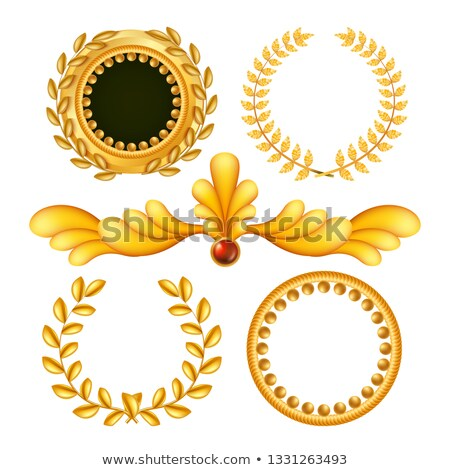Gold Vintage Royal Elements Vector. Antique Frame, Royal Baroque. Isolated Realistic Illustration Stock photo © pikepicture