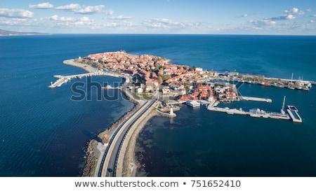 Stock fotó: Kilátás · gyönyörű · tenger · város · Bulgária · tengerpart
