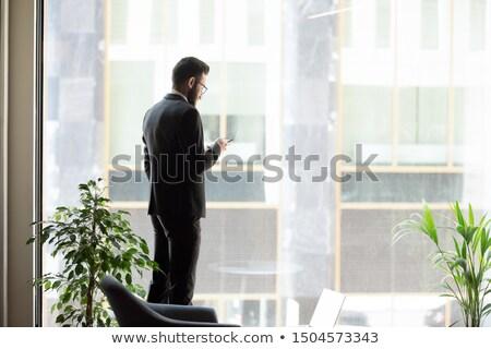işadamı · gazete · yalıtılmış · mutlu · finansal - stok fotoğraf © deandrobot