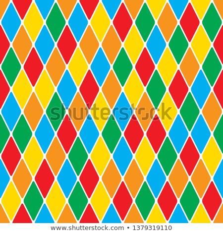 Harlequin's polychromatic mosaic bright cheerful seamless pattern. Stock photo © Glasaigh