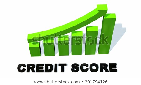 Foto stock: Increasing Credit Score Graph Concept