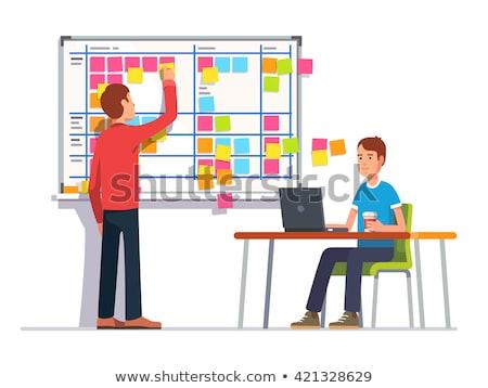 Colleagues scheduling work process Stock photo © jossdiim