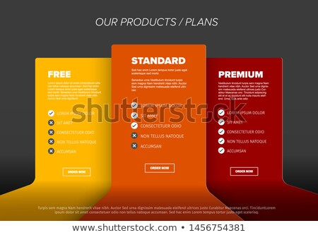 Product features schema template Сток-фото © orson