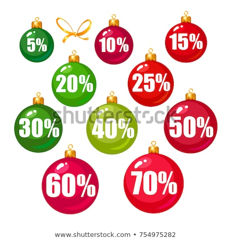 Discount Sale 15 Percent Off, Poster with Ball Stock photo © robuart