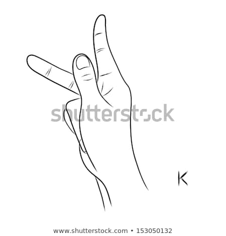 hand demonstrating k in the alphabet of signs stock photo © vladacanon