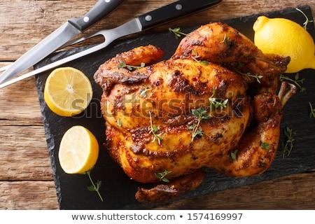 Geheel citroen tabel top voedsel Stockfoto © dolgachov