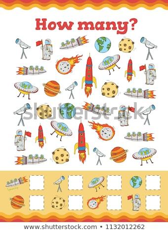 count cartoon robots educational game stock photo © izakowski