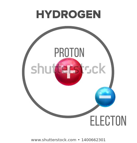 Bohr Model Of Scientific Hydrogen Atom Vector Stock photo © pikepicture