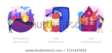 Fire consequences concept vector illustration. Stock photo © RAStudio