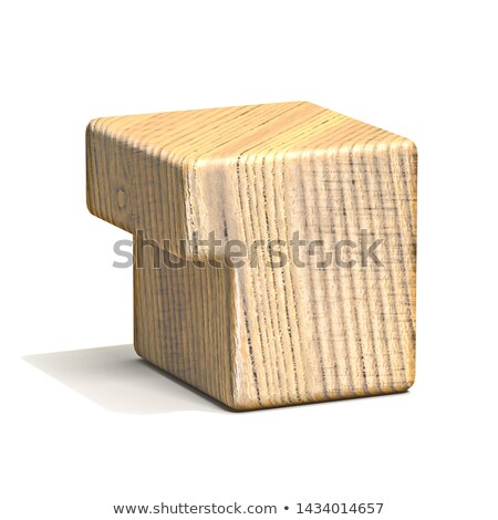 Solid wooden cube font Number 1 ONE 3D Stock photo © djmilic