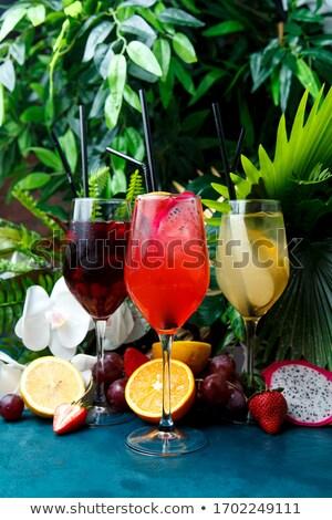 ресторан · вертикальный · цвета · коктейль · меню · ретро - Сток-фото © netkov1