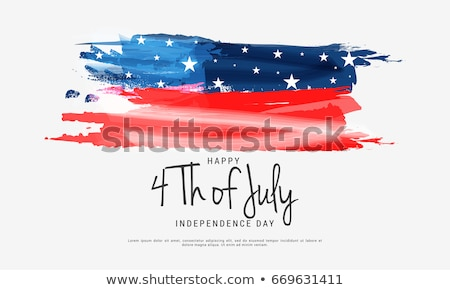 Stock photo: 4th of July Independence Day of the USA Vector Illustration. Fourth of July American National Celebr