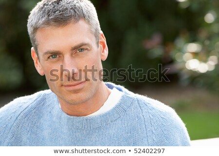 portrait · homme · permanent · à · l'extérieur · automne - photo stock © monkey_business