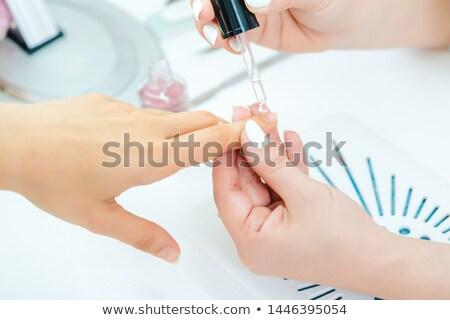 油 指 爪 女性 ペディキュア ストックフォト © Kzenon