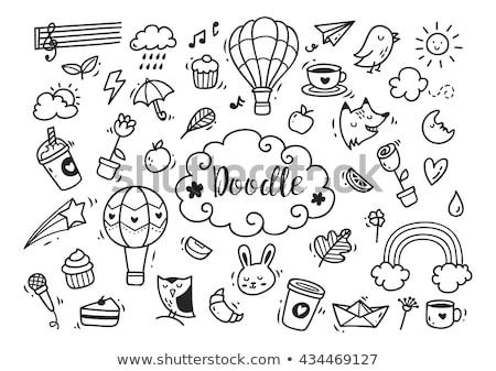 conjunto · fadas · projeto · magia · ícones · pictogramas - foto stock © marish