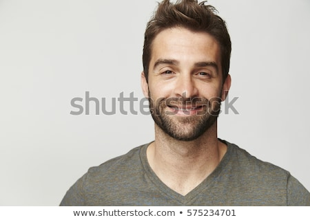 handsome dude in grey, portrait Stock photo © Lopolo