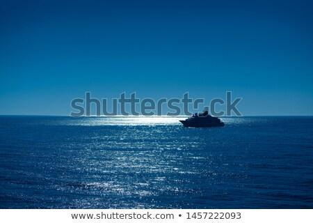 日没 日の出 ボート ポート 太陽 反射 ストックフォト © lunamarina