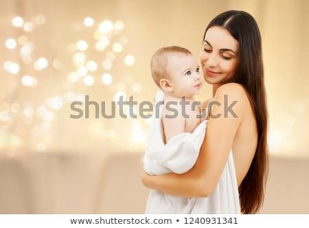 Süß Baby Weihnachten Lichter Kindheit Stock foto © dolgachov