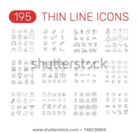 vetor · fino · linha · ícone · equipamentos · médicos · pesquisa - foto stock © pikepicture