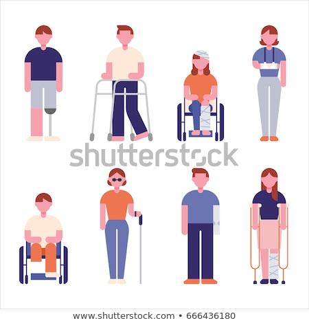 injured people flat characters stock photo © voysla