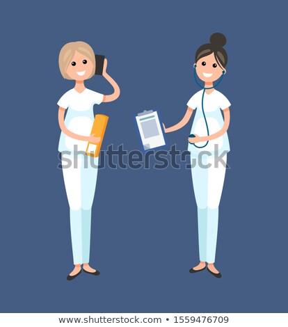 állatorvos klinika orvos recepciós munkás vektor Stock fotó © robuart